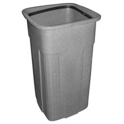 Toter 0SSC25-R1GST Slimline Square Trash Can, 25-Gallon, Gra