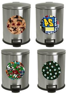 1.3 Gallon Oval Step Trash Can Traditional Professional Spor