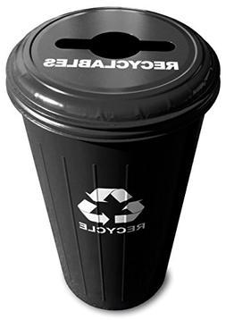 Witt Industries 10/1CTBK Steel 20-Gallon Recycling Trash Can
