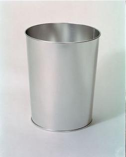 "10"" / 26cm Metal Silver Office Waste Paper Bin Trash Can"