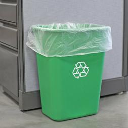 10 Gallon Green Heavy Duty Rectangular Plastic Recycle Bin W