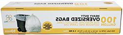 PlasticMill 100 Gallon, Cear, 1.3 Mil, 67x79, 10 Bags/Case,