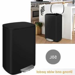 13.2 Gallon/50 L Stainless Steel Garbage Bin Office Kitchen