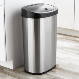 13.2 Gallon Kitchen Motion Sensor Trash Can, Stainless Steel