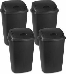 Sterilite 13.2 Gallon Plastic Bin SwingTop Wastebasket Trash