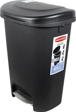 13 Gal Rubbermaid Step On Plastic Trash Can Kitchen Waste Ba