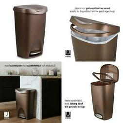 13 Gal Trash Can Stainless-Steel Foot Pedal Kitchen Garbage