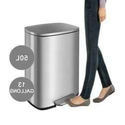 13 Gallon/50 L Stainless Steel Garbage Bin Office Kitchen St
