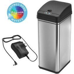 13 Gallon Automatic Sensor Touchless Deodorizer Trash Can wi