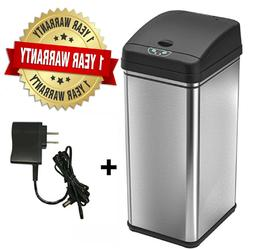 13 Gallon Automatic Sensor Touchless Deodorizer Trash Can St