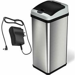 13 Gallon Stainless Steel Automatic Trash Can Odor Filter Se