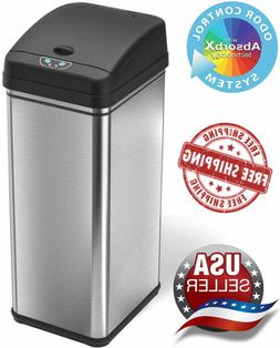 iTouchless 13 Gallon Touchless Sensor Trash Can Stainless St