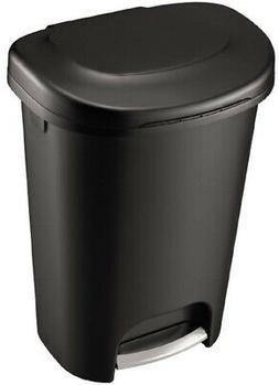13 Gallon Trash Can 52 Quart Pedal Liner Lock Tall Kitchen W