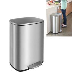 13Gallon/50 L Stainless Steel Garbage Bin Office Kitchen Ste