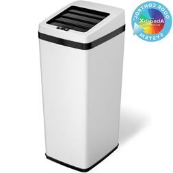 14 Gallon Steel Automatic Sensor Touchless Trash Can Home Of
