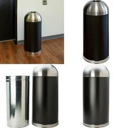 15 Gallon Dome Top Trash Receptacle Can Garbage Holder Baske