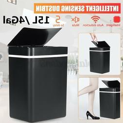 15L Touch-Free Trash Can Automatic Infrared Motion Sensor To