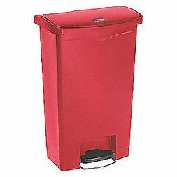 RUBBERMAID 1883566 13 gal. Red Plastic Rectangular Trash Can