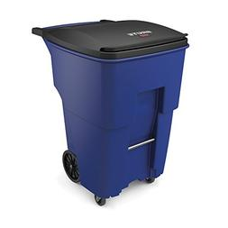 Rubbermaid Commercial 1971996 Brute Rollout Trash Can with C