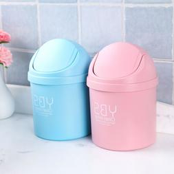 1Pcs Creative Mini Desktop Trash Can with Lid for Living Roo