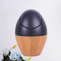 1PCS Mini Trash Can Bamboo Table Desktop Waste Bin for Offic