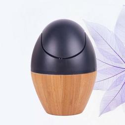 1PCS Mini Trash Can Table Bamboo Desktop Waste Bin for Kitch
