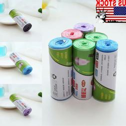 1Roll 20X Pieces Garbage Trash Bag Box Can Kitchen Toilet Cl