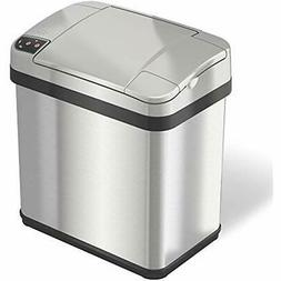 Small Automatic Sensor Trash Can Stainless Steel 2Gallon Off