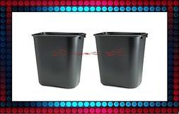 2 Rubbermaid Black 7 Gallon Soft Molded Plastic Trash Can Of