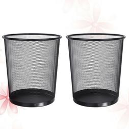2 PCS Durable Iron Trash Can Garbage Recycling Container for