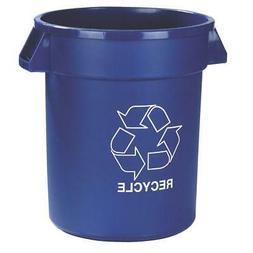 Carlisle 20 Gal. Blue Imprinted Recycle Trash Can