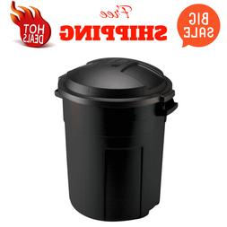 20 Gal. Round Trash Can Waste Garbage Bin Container Heavy Du