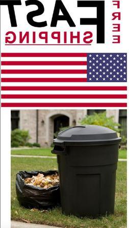 20 GalRound Trash Can Heavy Duty Recycle Bin Lid Waste Garba