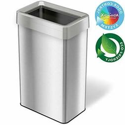 21 Gallon Dual-Deodorizer Open Top Trash Can Rectangular Sha