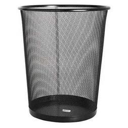ROLODEX 22351 5 gal. Solid Metal Round Wastebasket,Round,Wir