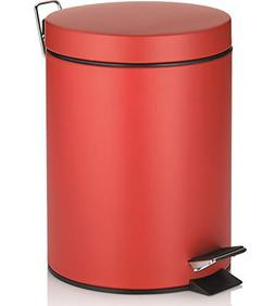 Kela Step Trash Can with Lid,  Mona Collection, Red