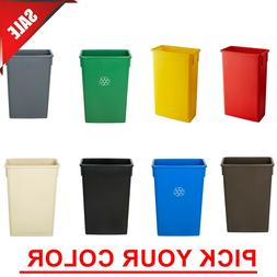 23 Gal. PICK YOUR COLOR Heavy-Duty Plastic Slim Commercial R