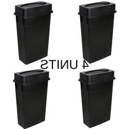 23 Gallon Heavy-Duty Black Plastic Slim Restaurant Kitchen T
