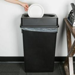 2 PACK 23 Gallon Heavy Duty Black Plastic Slim Kitchen Trash