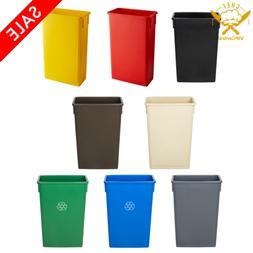 23 Gallon Heavy-Duty Plastic Slim Commercial Restaurant Wast