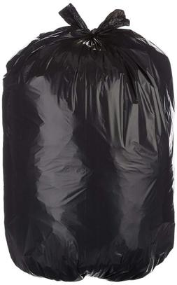 23 Gallon Slim Trash Can Liner, 1.1 Mil, Black, 250-Count