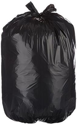 AmazonBasics 23 Gallon Slim Trash Can Liner, 1.1 mil, Black,