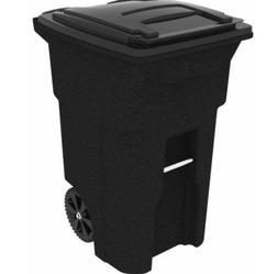 Toter 25564-R1209 64 Gallon 2-Wheel Plastic Trash Can Cart