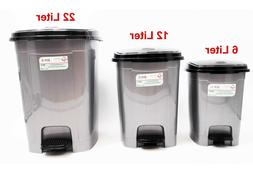 Pedal Dustbin Trash Can For Toilet Kitchen Living Room, 22/1
