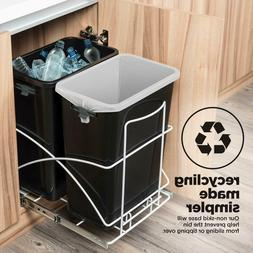 HomeZone 29 L Pull Out Trash Can Under The Counter Kitchen D