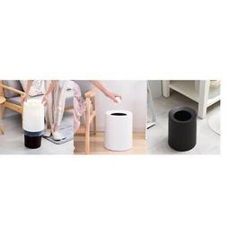 2Pcs 8L white black Wastebasket Round Trash Can Desk Waste C
