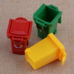 3 Color Mini Trash Can Bin Toy Garbage Truck Trashcan for Ki