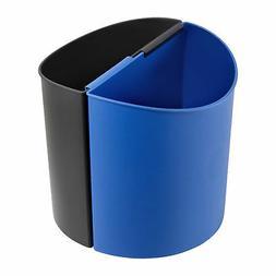 3 Gallon Capacity Desk-Side Recycling Receptacle-SM Dual-Bin