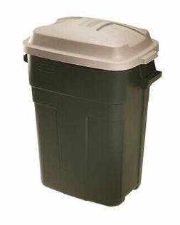 Trash Can 30 Gallon Green Plastic Garbage Bin Waste Indoor O