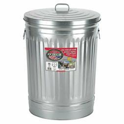 31 Gallon Steel Trash Can Rust Fire Heat Resistant Non Odor